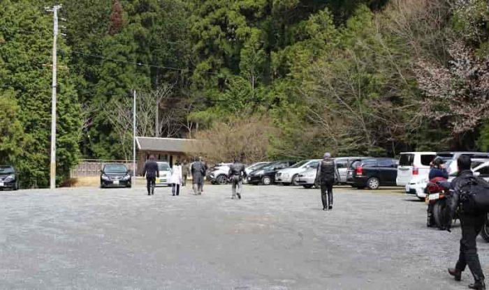 「常照皇寺」の無料駐車場です!