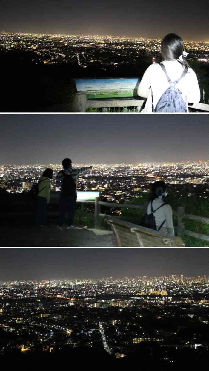 パノラマ状に展開される夜景です。