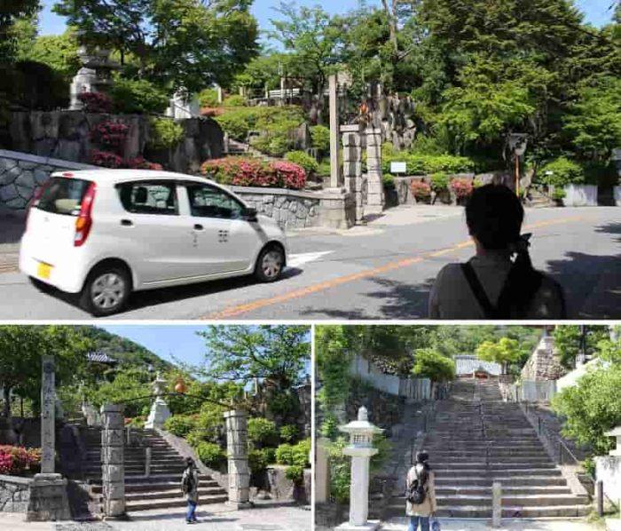 神呪寺の参道よりハイキング開始です。