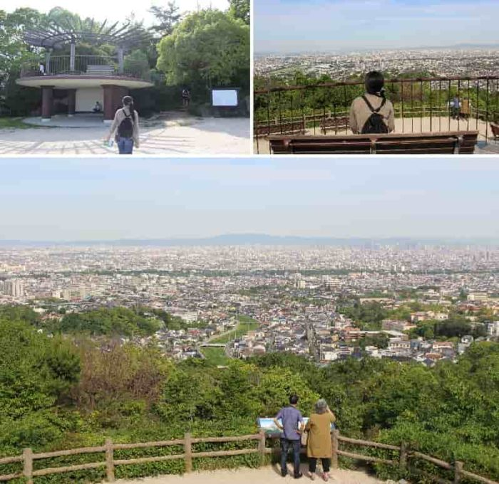 阪神間の景色を一望できます。