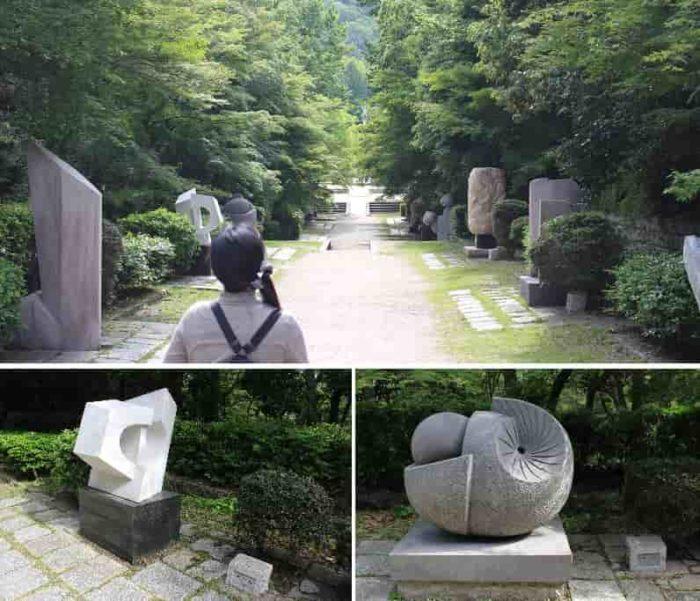 『彫刻の道』に立ち並ぶ作品です。。