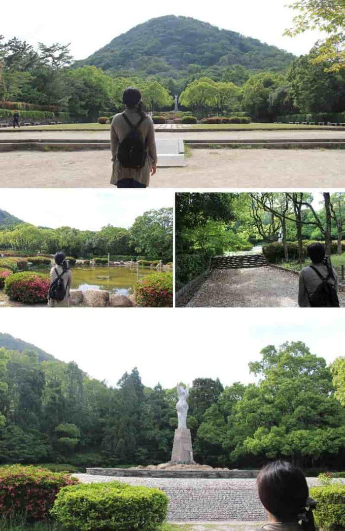 甲山森林公園のシンボル『愛の像』です。