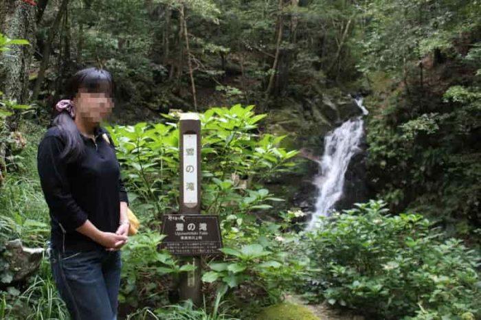 『鶯の滝』の滝見の場です。