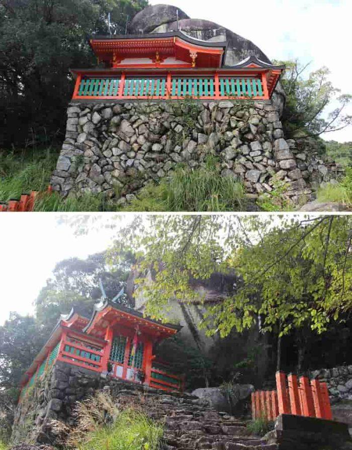 石垣上に本殿が設けられています。