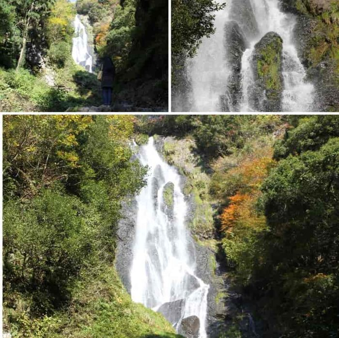 断崖絶壁を激しく流れ落ちる名瀑です。