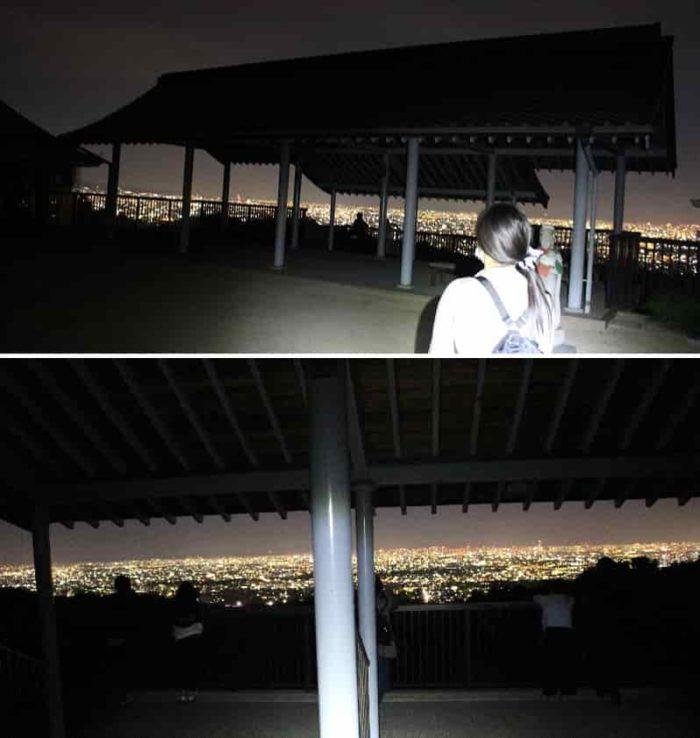 神呪寺の展望スペース『如意閣』です。