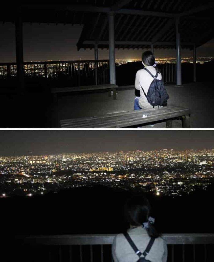 阪神間の夜景が一望できます。