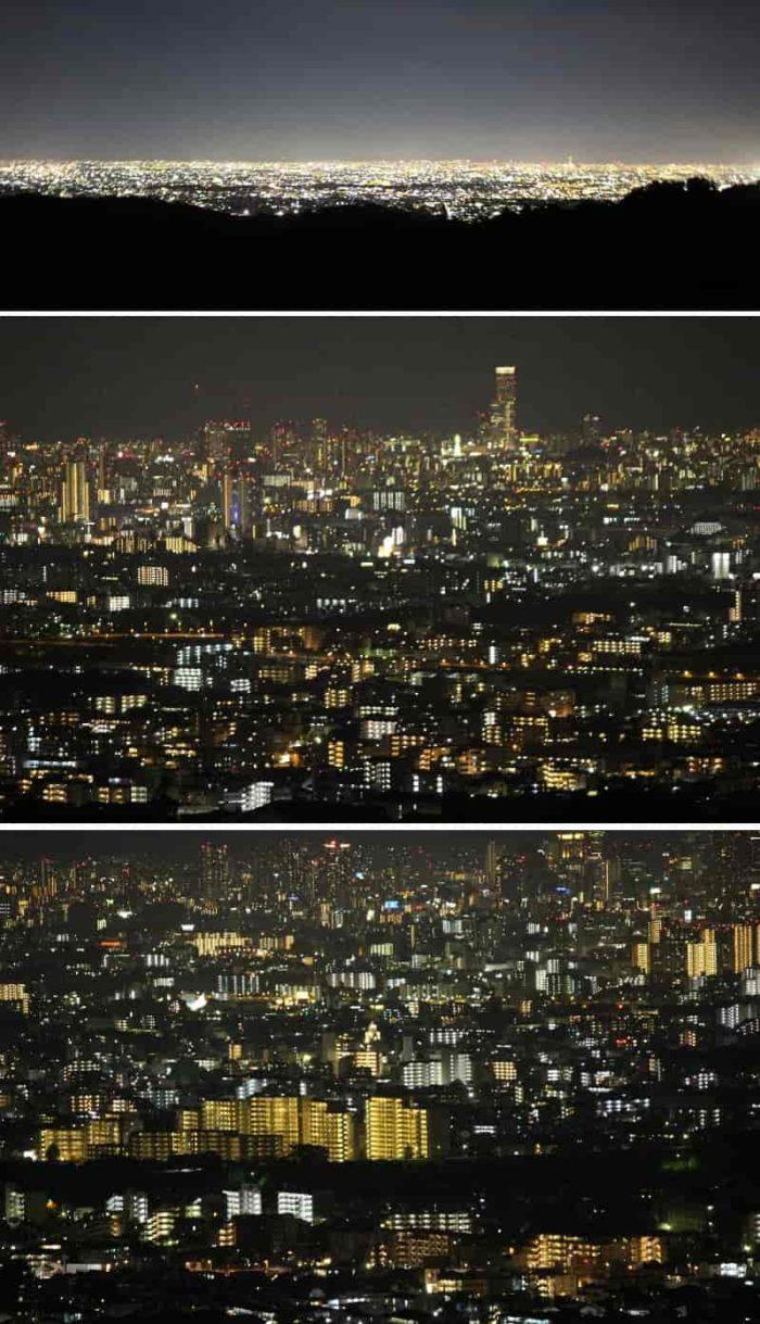 立体的な街明かりが特徴的です。