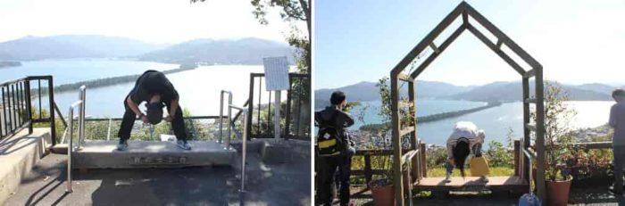 傘松公園は股のぞき発祥の地です。