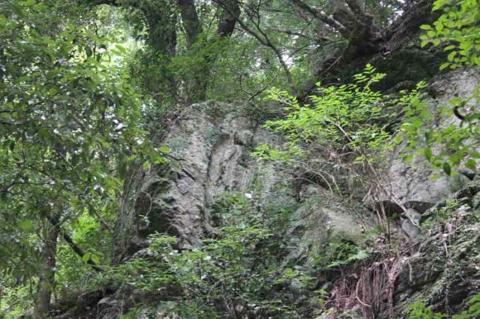 右上の側面にある滝坂地蔵です。