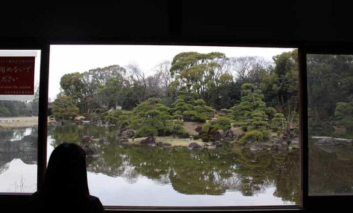 天王寺公園の一角にある慶沢園です。