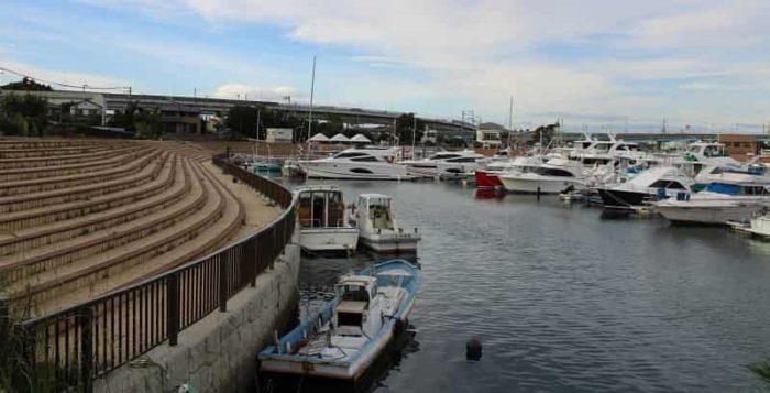 プレジャーボートの停泊地です。