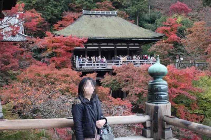 清水の舞台からの紅葉の景色です。
