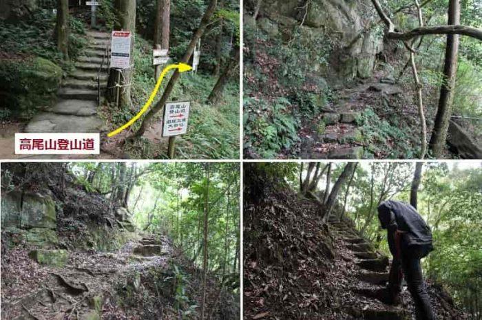 登山道を歩き進め『磨崖仏』へ向かいます。