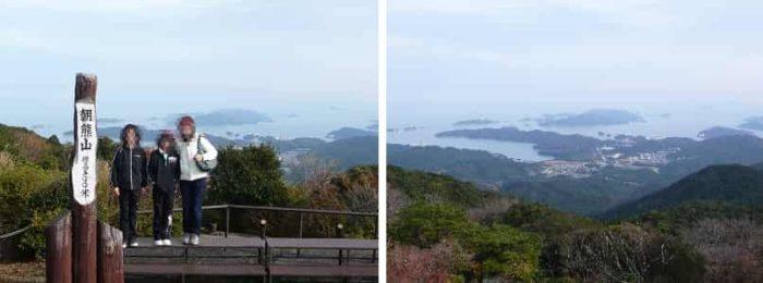 朝熊山の山頂から眺める景色です。