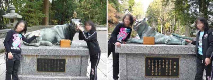 『智慧寅』と『福丑』の銅像です。