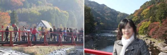巴川の上流側の『香嵐橋』です。