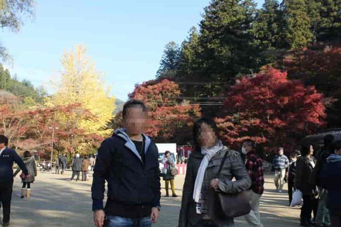 広々とした空間の香嵐渓広場です。