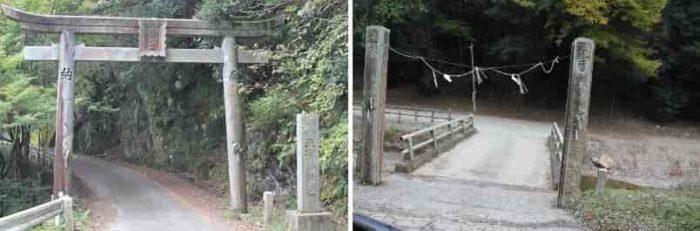小さな橋を渡ると駐車場です。