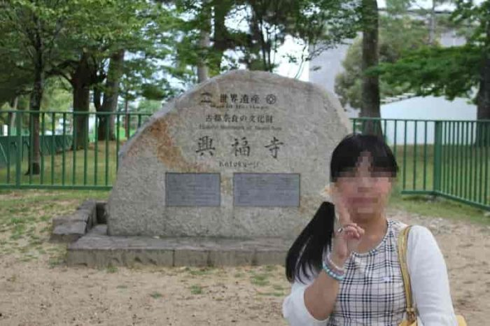 興福寺の世界文化遺産の石碑です。