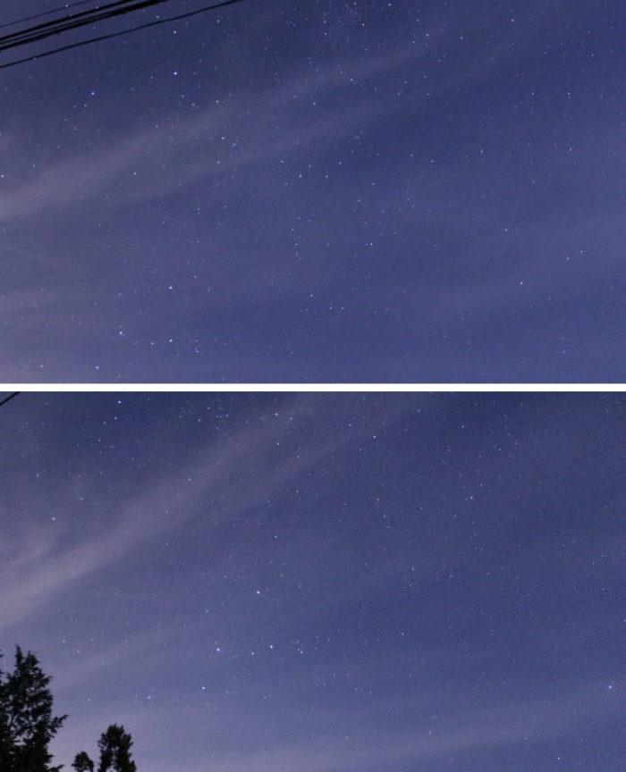 夜空を埋め尽くす満点の星空です。
