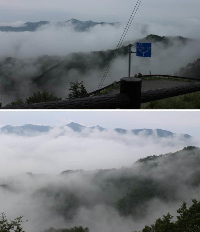 高野辻休憩所より望める雲海です。