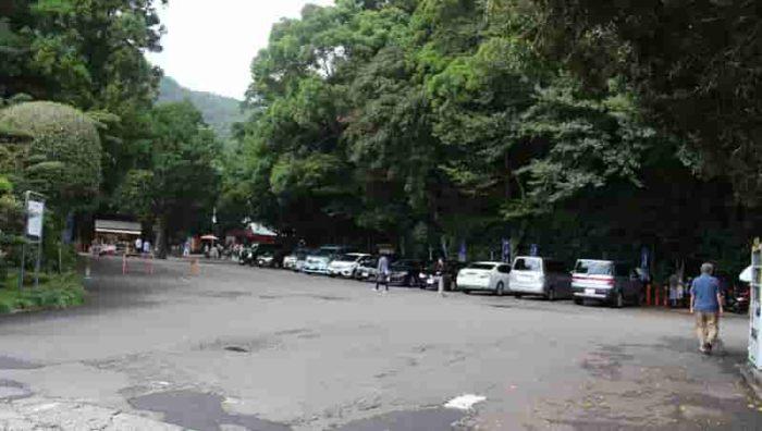 熊野速玉大社の駐車場です。