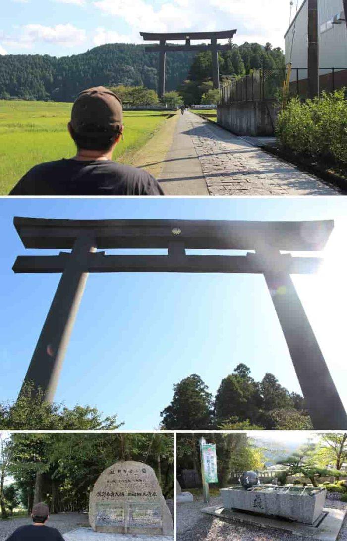 大斎原に立つ「日本一の大鳥居」です。