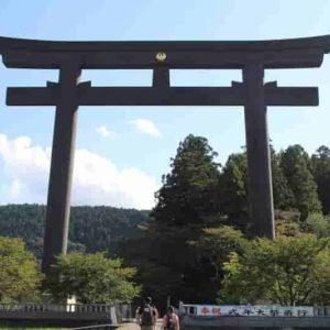「日本一の大鳥居」です。