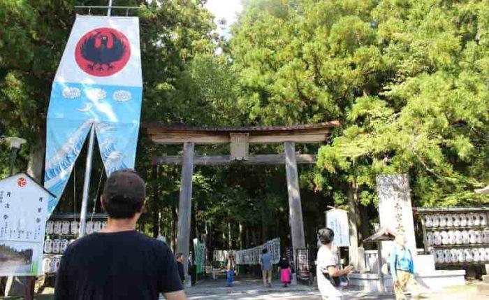 熊野本宮大社の「一の鳥居」です。