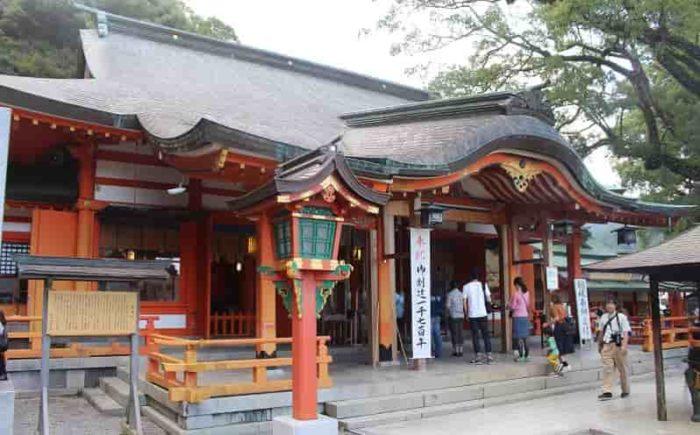 熊野那智大社の境内の様子です。
