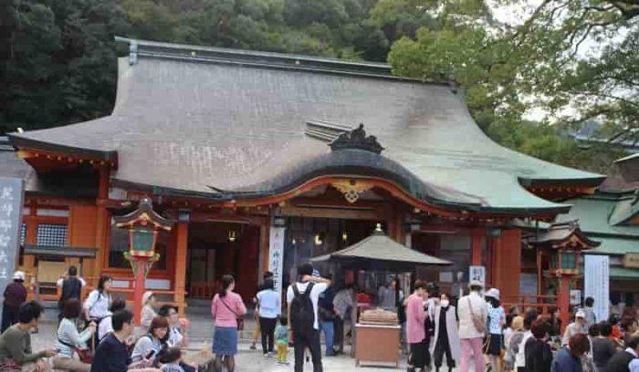 熊野那智大社の拝殿です。