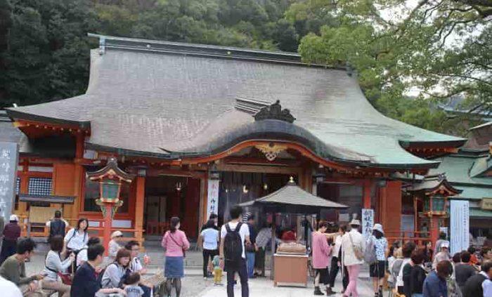熊野三山のひとつ熊野那智大社です。