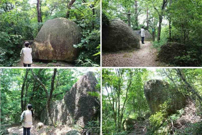 見ごたえある巨石が点在します。