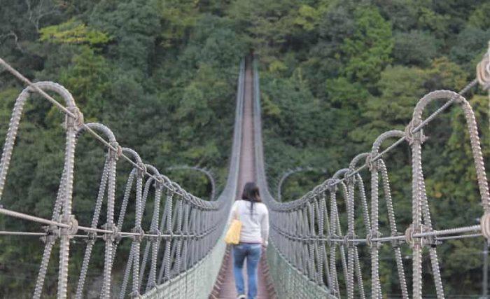 日本最長級の長さを誇る黒滝吊橋です。