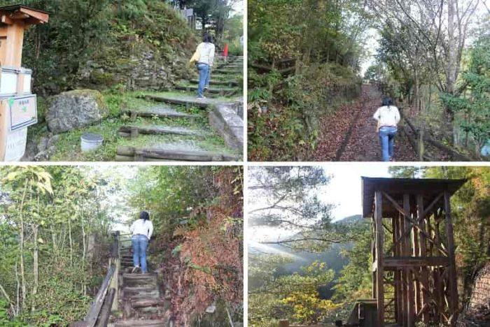 『黒滝吊橋』へと向かう階段です。