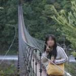 対岸まで伸びる『黒滝吊橋』