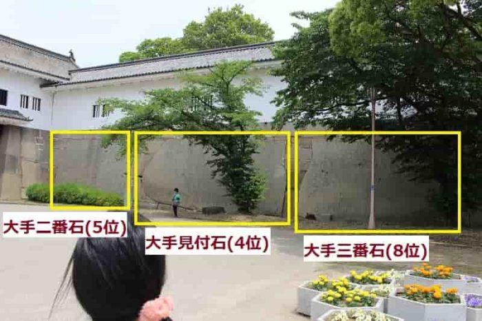 大手門と大門の桝形にある巨石です。
