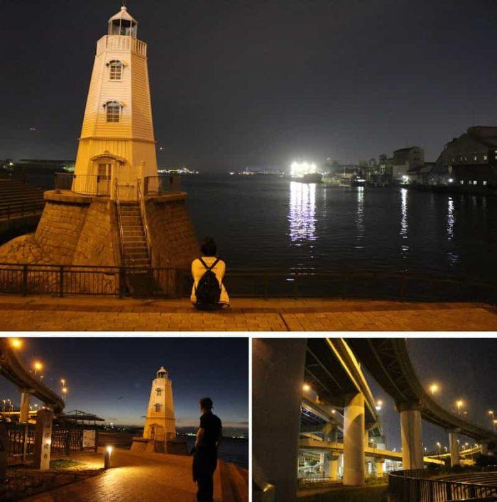 旧堺燈台跡より望む夜景です。