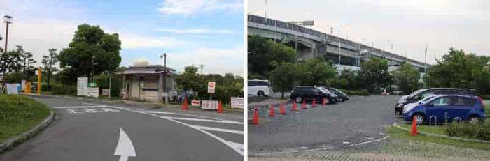 「大浜公園」の有料駐車場です。