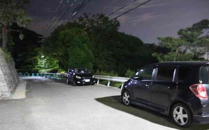 前山公園にある駐車スペースです。