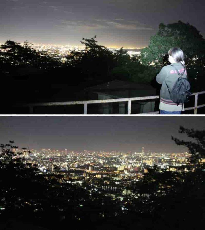 最上階層より望む夜景です。