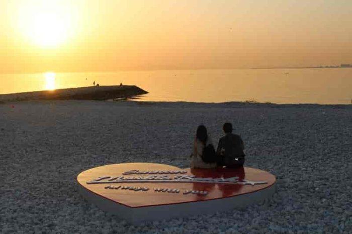 マーブルビーチから眺める夕景です。