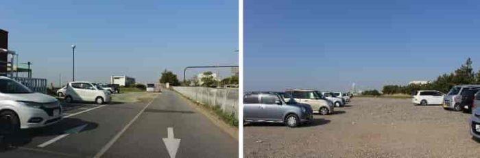マーブルビーチの無料駐車場です。