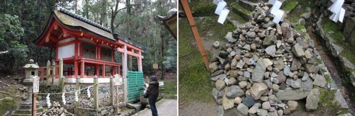 紀伊神社と龍王珠石です。