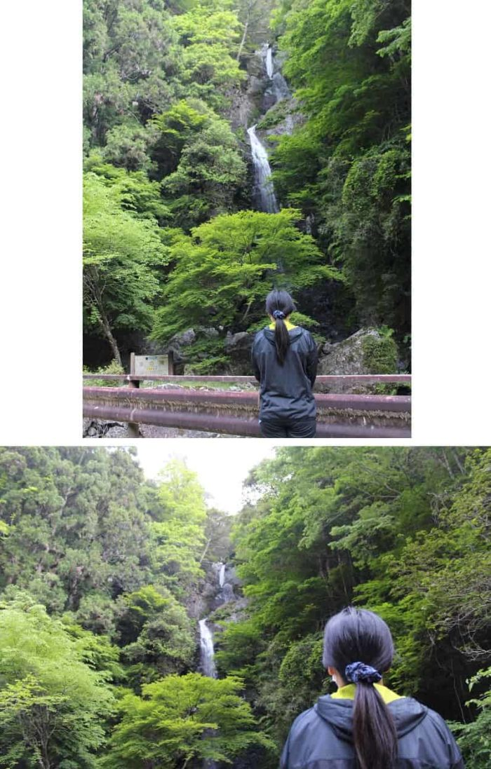 3段からなる宮の滝の全貌です。