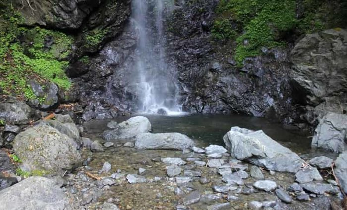 宮の滝の滝壺です。