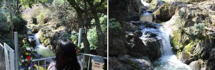 観世音菩薩が降臨した滝です。