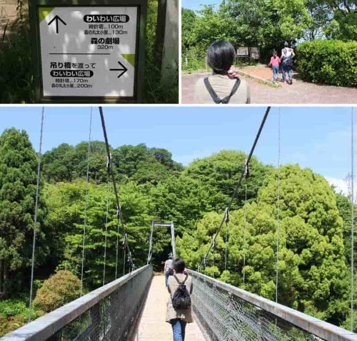 長さ54メートルの吊り橋です。