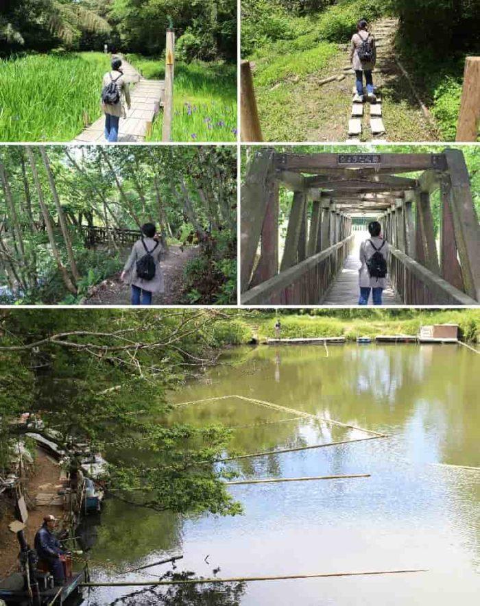 見どころのひとつ『ひょうたん橋』です。